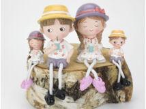 Lógólábú szerelmespár kalapban kicsi és nagy 4db/csomag
