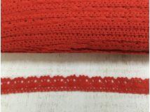 Piros Pamut csipke 2cm*91,4m