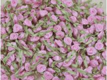 Szatén rózsafejek rózsaszín 950db/cs - OKOS ÁR!