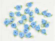 Szatén rózsafejek türkiz 25db/csomag