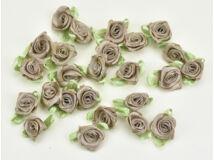 Szatén rózsafejek v.barna 25db/csomag