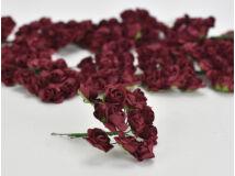 Papír rózsa bordó 144db/csomag