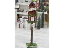 Karácsonyi portál dekoráció - madáretető