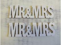 MR&MRS felirat  2db/cs