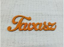 """Fa """"Tavasz"""" felirat narancs 15cm"""