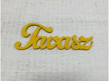 "Fa ""Tavasz"" felirat sárga 15cm"