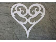 Vintage szív fehér