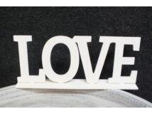 "Fa ""LOVE"" felirat talppal fehér 25cm"