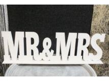 Mr & Mrs felirat talppal fehér 50cm