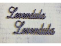 "Fa - ""Levendula"" felirat  lila 2db/csomag"