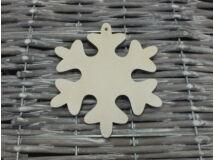 Fa hópehely 11cm fehér