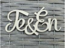 """""""Te & Én"""" felirat fehér"""