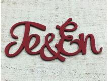"""""""Te&Én"""" felirat meggypiros"""