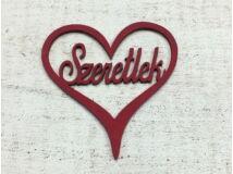 Szeretlek szívben meggypiros