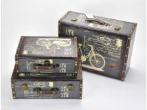 Bőrönd szett biciklis kék 3db/szett