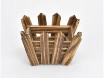 Fa kerítéses ládika íves barna 200/#