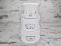'Forever' kalapdoboz szett fehér 3db/szett