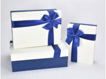 Kék masnis tégla doboz szett 3db/szett