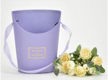 Papír virágtartó long nagy lila