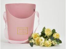 Papír virágtartó long nagy rózsaszín