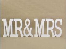 Mr & Mrs felirat fából 36/#