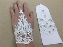 Esküvői kesztyű csipke1 pár