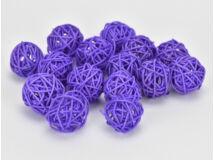 Vessző gömb lila 3cm 15db/csomag
