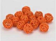 Vessző gömb narancs 3cm 15db/csomag