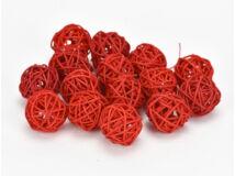 Vessző gömb piros 3cm 15db/csomag