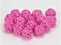 Vessző gömb rózsaszín 3cm 15db/csomag