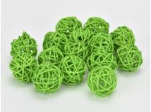 Vessző gömb zöld 3cm 15db/csomag