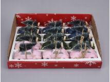 Vintage bogárhátú fenyőfával vegyes színek 12db/doboz - OKOS ÁR!
