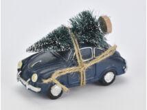 Vintage autó fenyőfával kék