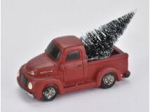 Vintage autó fenyőfával piros