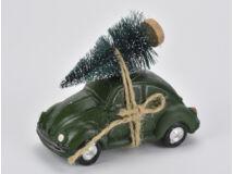Vintage autó fenyőfával zöld