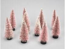 Dekor fenyő pink havas 10cm10db/csomag