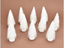 Dekor fenyő fehér 10cm10db/csomag