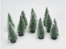 Dekor fenyő zöld havas 10cm10db/csomag