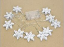 Világító girland dekoráció - hópihe 100/#