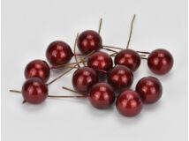 Piros gyöngyház bogyó nagy 12db/csomag