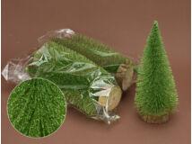Erdőzöld csillámos fenyők 20cm 5db/csomag