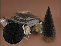 Fekete csillámos fenyők 20cm 5db/csomag