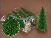 Fenyőzöld csillámos fenyők 20cm 5db/csomag