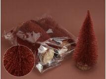 Piros csillámos fenyők 20cm 5db/csomag