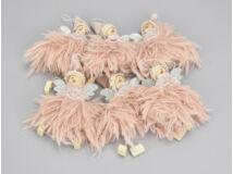 Rózsaszín szőrmés tündér 6db/csomag