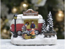 Karácsonyfa vásár jelenet világítós