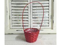 Bambusz füles kaspó piros 12cm