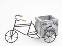 Fém tricikli fa kaspóval 144/#
