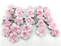 Papír rózsa rózsaszín 1,6cm 25db/csomag