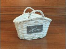Vessző táska fehér kicsi